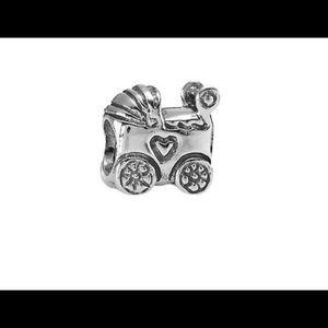 Pandora silver baby carriage bead